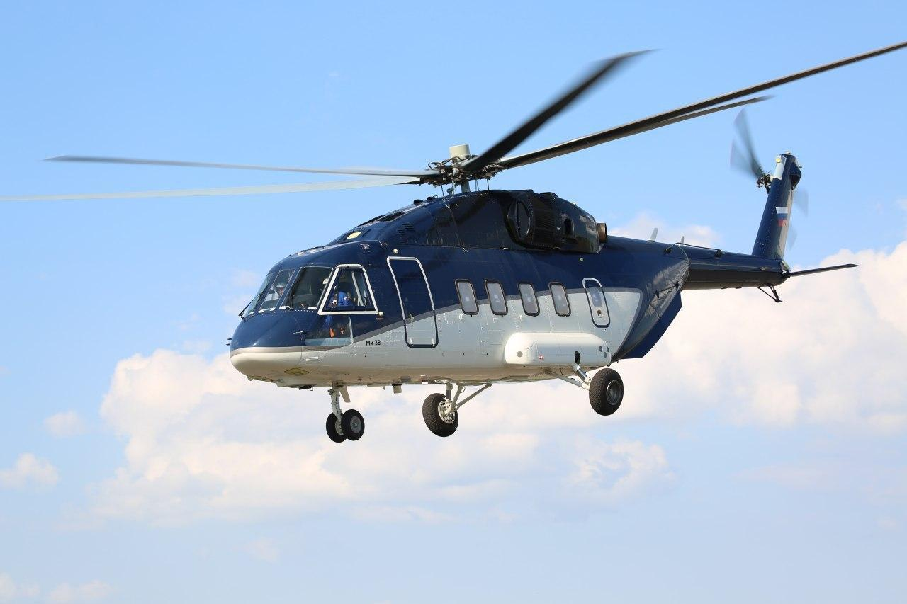 Rostec delivers the first serial produced Mi-38 to a client