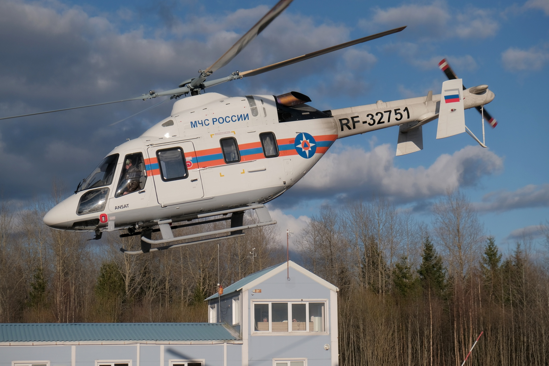 Rostec hands the first Ansat helicopter over to EMERCOM of Russia