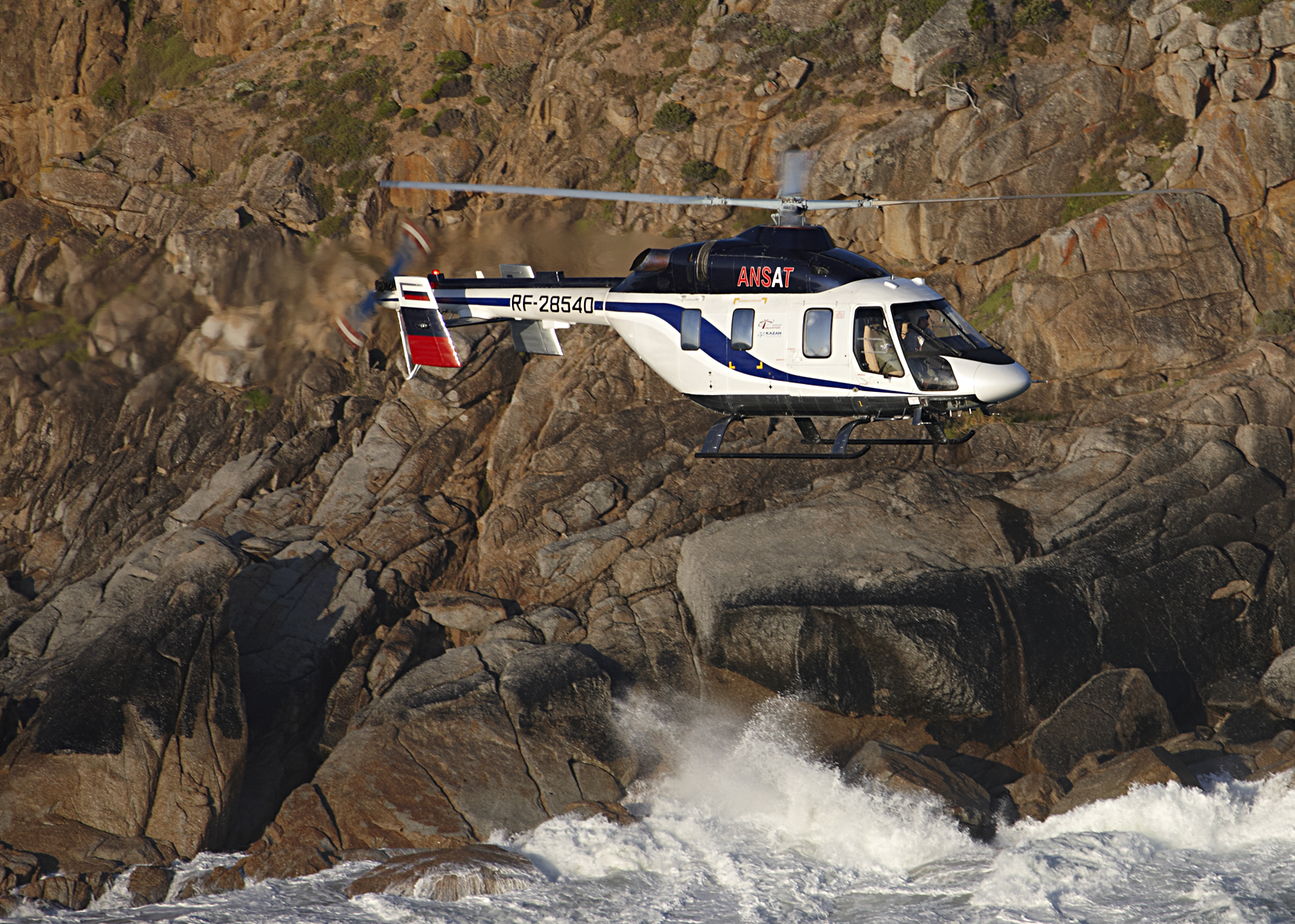 Russian Helicopters successfully tests Ansat equipped with emergency floatation system