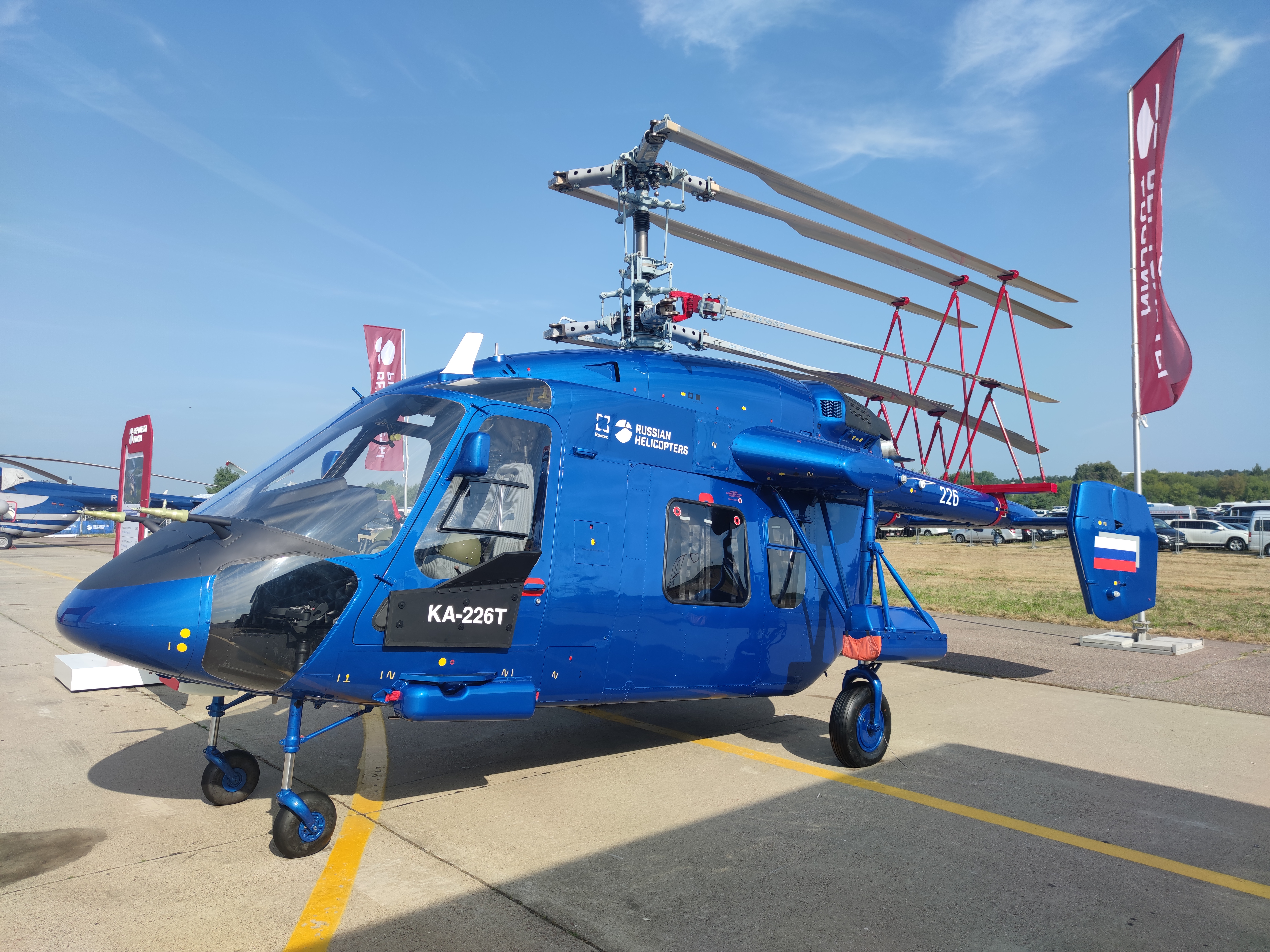 Russian Helicopters presented a new modification of the Ka-226T for the first time at MAKS-2021